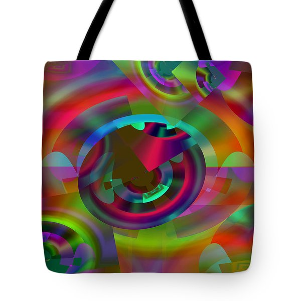 Tote Bag featuring the digital art Color Dome by Lynda Lehmann