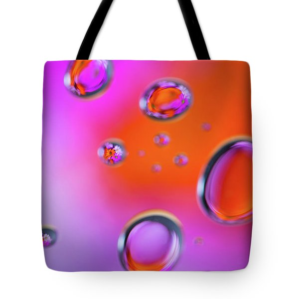 Tote Bag featuring the photograph Color Drops by Brian Hale