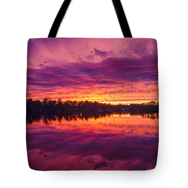 Color Explosion Sunset Tote Bag
