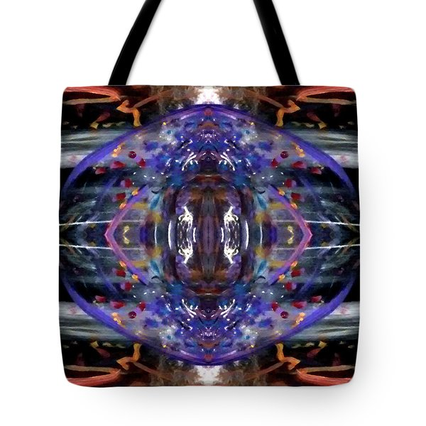 Tote Bag featuring the digital art Color Eye by Michelle Audas