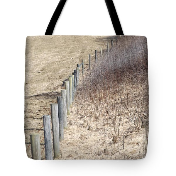 Color Fences Tote Bag