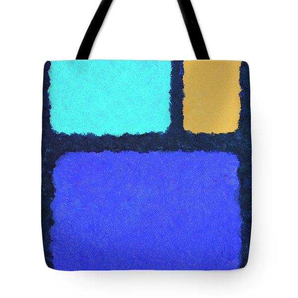 Tote Bag featuring the painting Color Fields by Jutta Maria Pusl