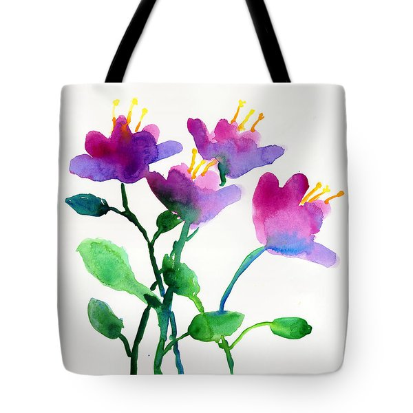 Color Flowers Tote Bag