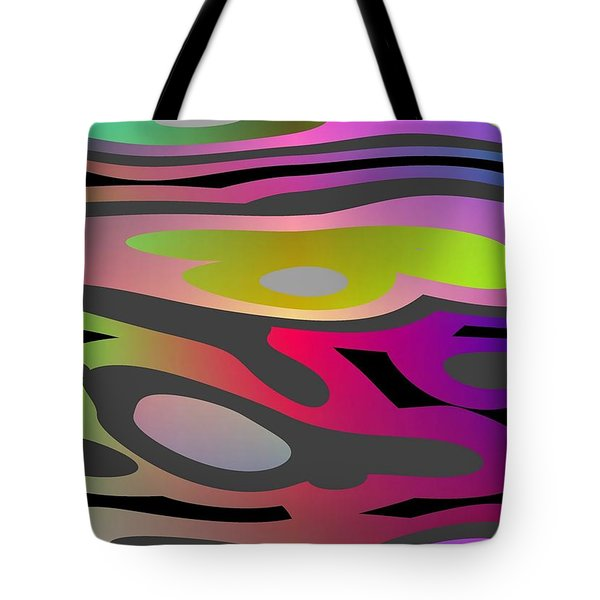 Tote Bag featuring the digital art Color Fun 1 by Jeff Iverson