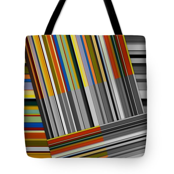 Tote Bag featuring the digital art Color In Black And White by Michelle Calkins