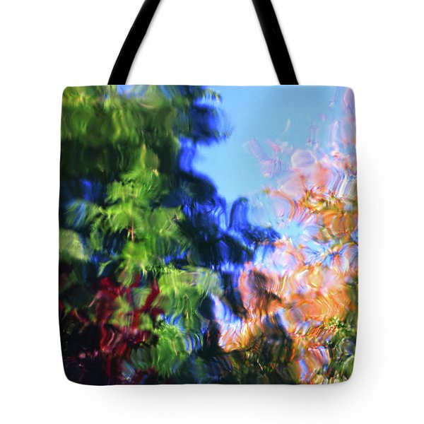 Tote Bag featuring the digital art Color In Motion by Kathleen Illes