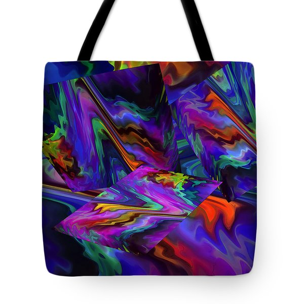 Tote Bag featuring the digital art Color Journey by Lynda Lehmann