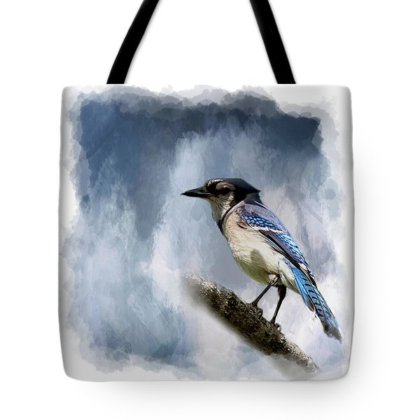 Color Me Blue Tote Bag by Cyndy Doty