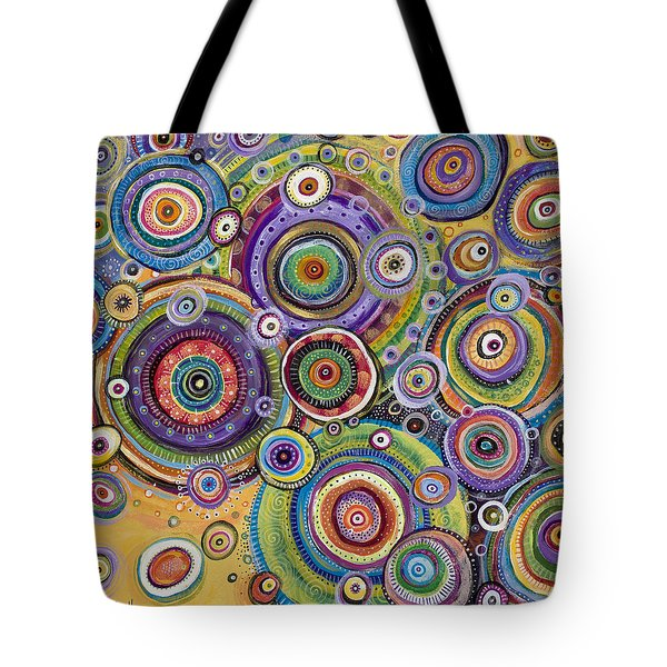Tote Bag featuring the painting Color Me Happy by Tanielle Childers