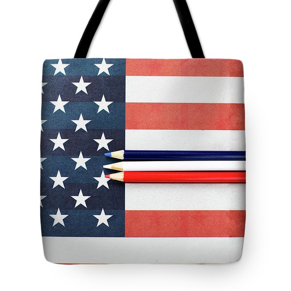 Tote Bag featuring the photograph Color Me Red White And Blue by Rebecca Cozart