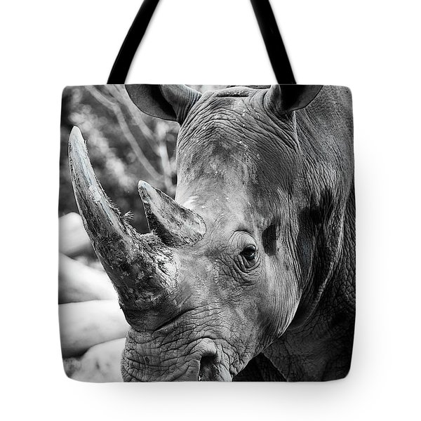 Tote Bag featuring the photograph Color Me Rhino by John Haldane