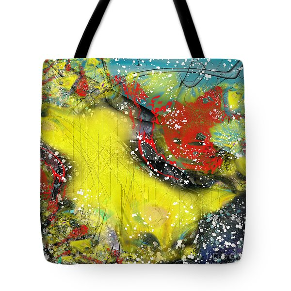 Tote Bag featuring the digital art Let's Celebrate by Yul Olaivar