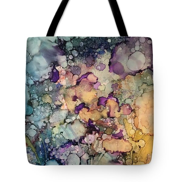 Purple Fire Tote Bag