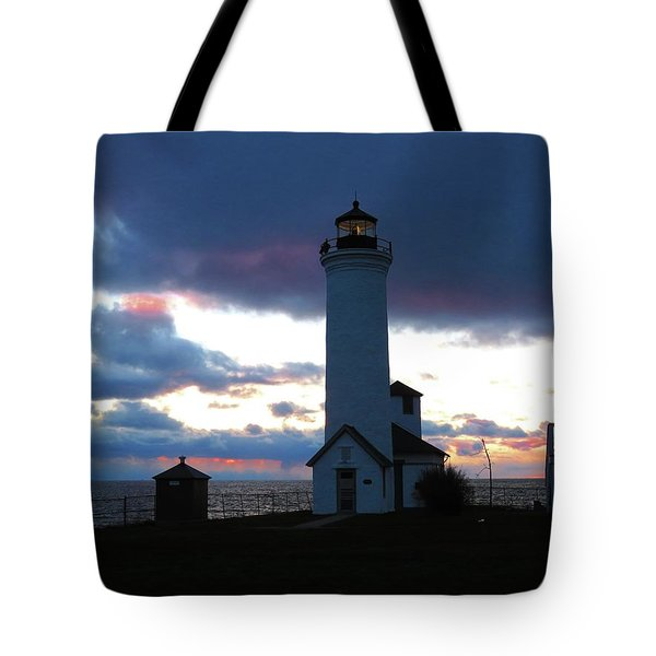 Color Of December, Tibbetts Point Lighthouse Tote Bag