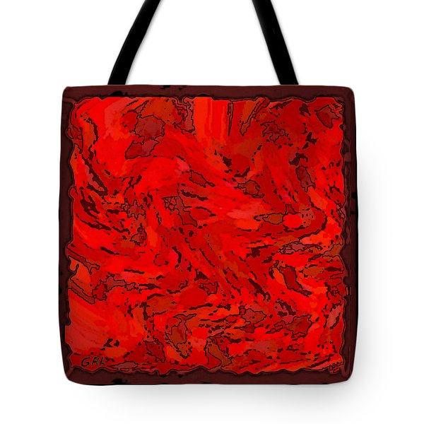 Color Of Red Vi I Contemporary Digital Art Tote Bag