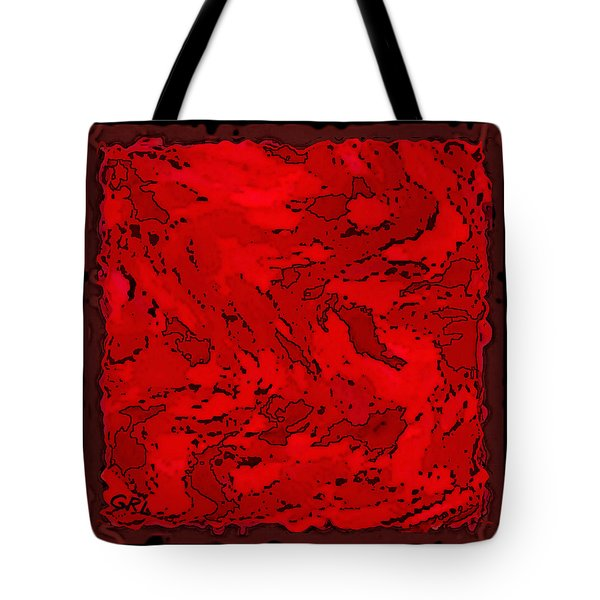 Color Of Red Vi II Contemporary Digital Art Tote Bag