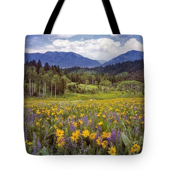 Color Of Spring Tote Bag by Leland D Howard