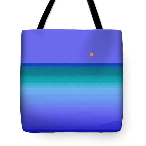Tote Bag featuring the digital art Color Of Water by Val Arie