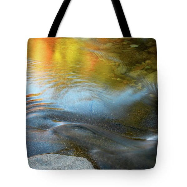 Tote Bag featuring the photograph Color On The Swift River Nh by Michael Hubley
