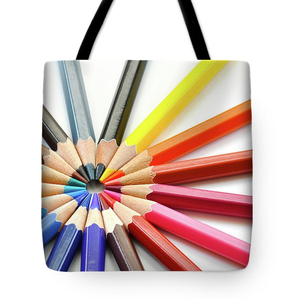 Color Pencils Tote Bag