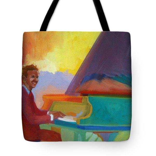 Color Piano Justin Levitt Steinway Tote Bag