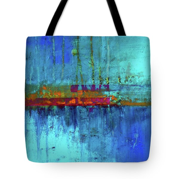 Tote Bag featuring the painting Color Pond by Nancy Merkle