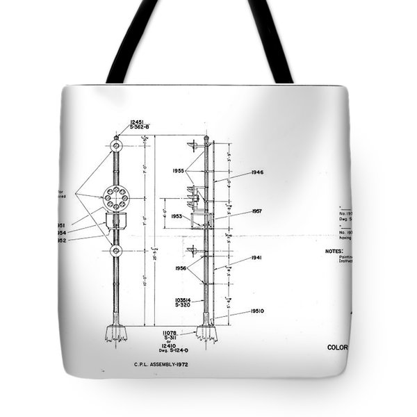 Color Position Light Ground Signals Tote Bag
