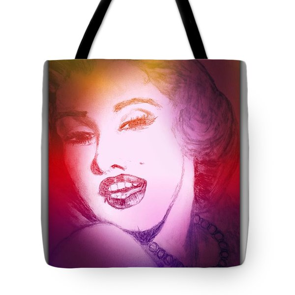 Color Rendition Of Marilyn Monroe #2 Tote Bag