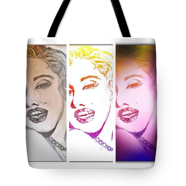 Color Rendition Of Marilyn Monroe #3 Tote Bag