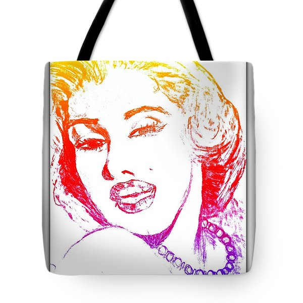 Color Rendition Of Marilyn Monroe Tote Bag