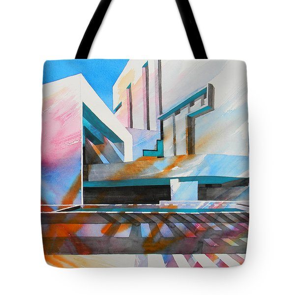 Tote Bag featuring the painting Color Simphony by J- J- Espinoza
