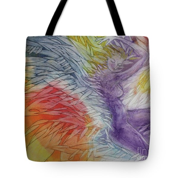 Tote Bag featuring the drawing Color Spirit by Marat Essex