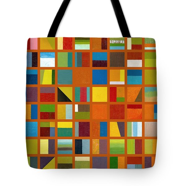 Color Study Collage 66 Tote Bag by Michelle Calkins