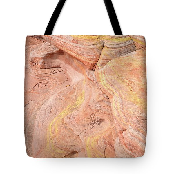 Tote Bag featuring the photograph Color Swirls In Valley Of Fire State Park by Ray Mathis