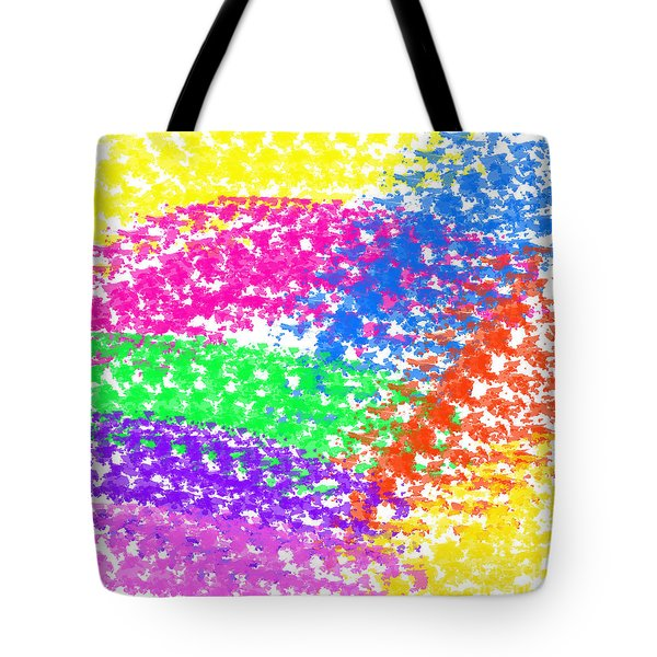 Color Treads Tote Bag