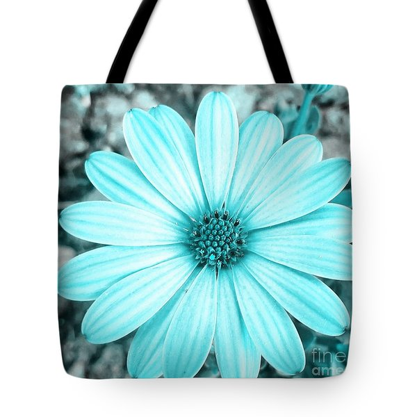Color Trend Blue Blossom Tote Bag