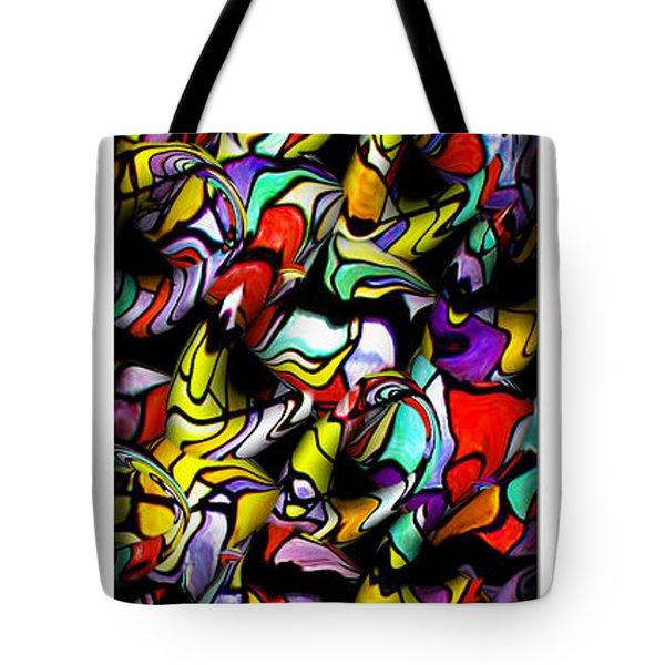 Color Unfolds Tote Bag by Joan  Minchak