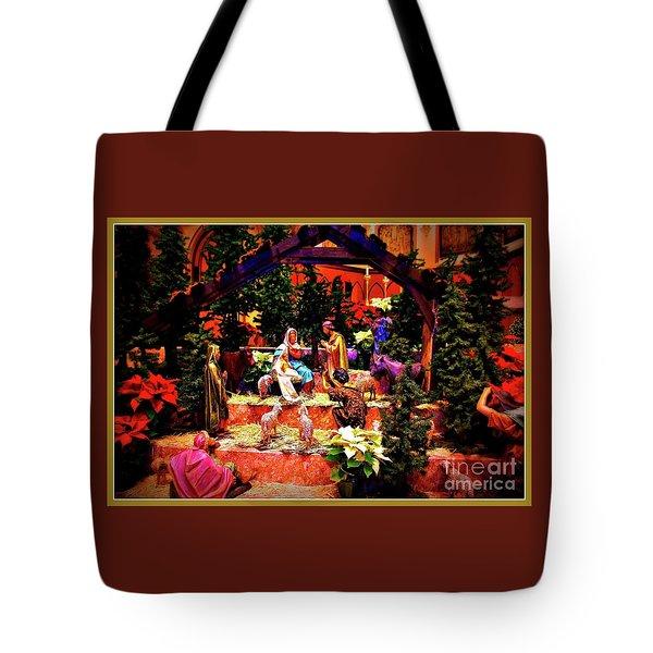 Color Vibe Nativity - Border Tote Bag