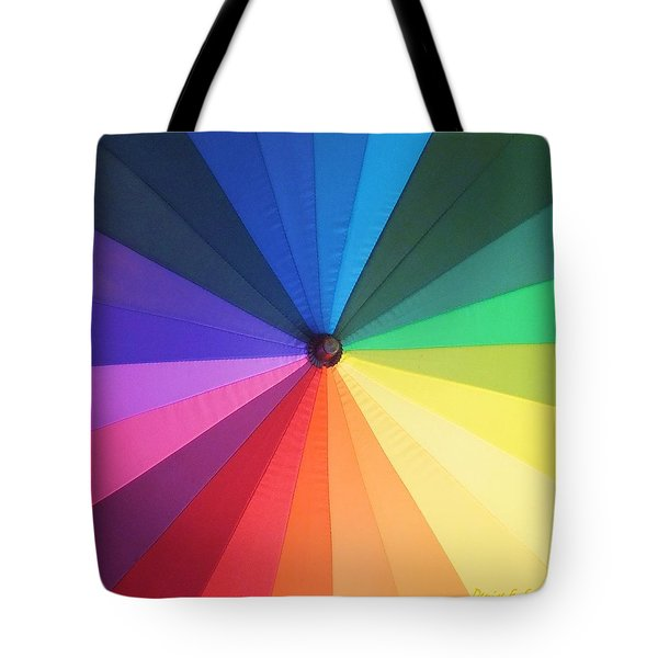Color Wheel Tote Bag by Denise Fulmer
