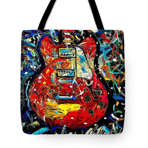 Color Wheel Guitar Tote Bag