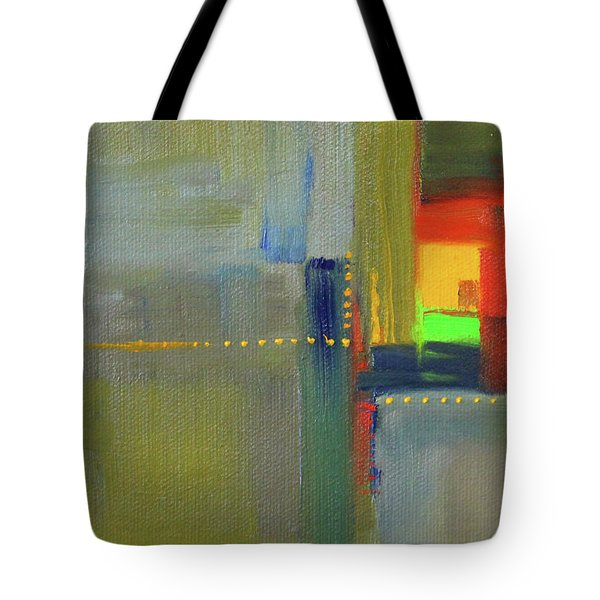 Tote Bag featuring the painting Color Window Abstract by Nancy Merkle