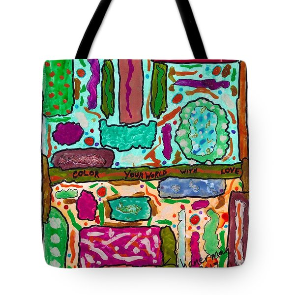 Color Your World With Love Tote Bag