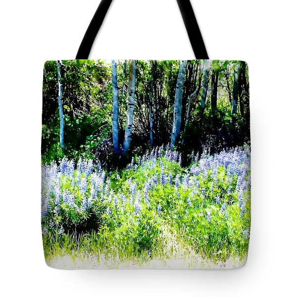 Colorado Apens And Flowers Tote Bag by Joseph Hendrix