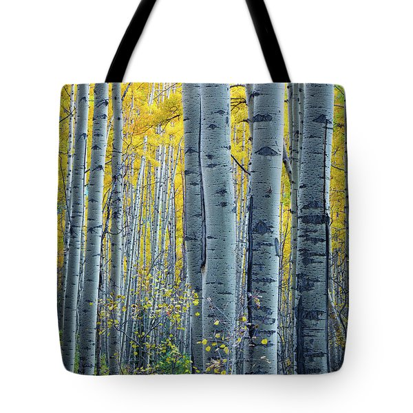 Colorado Aspens Tote Bag by Inge Johnsson
