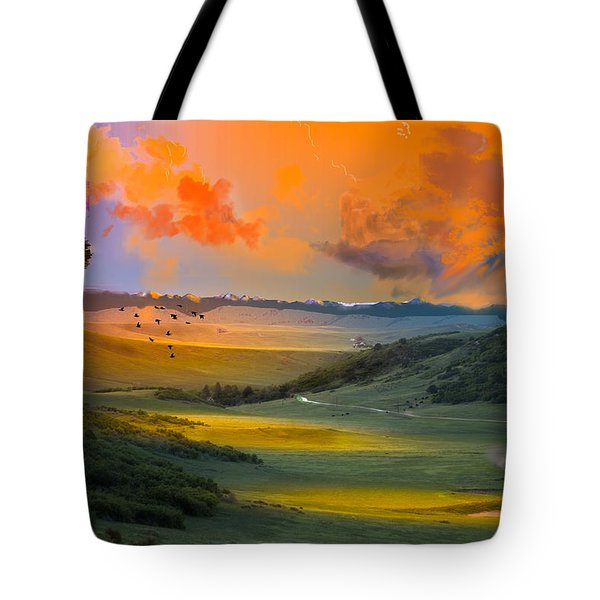 Colorado Big Valley Sunrise Tote Bag