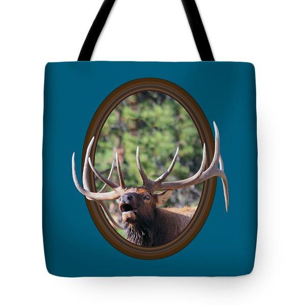 Tote Bag featuring the photograph Colorado Bull Elk by Shane Bechler