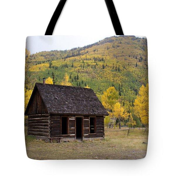 Colorado Cabin Tote Bag by Marty Koch