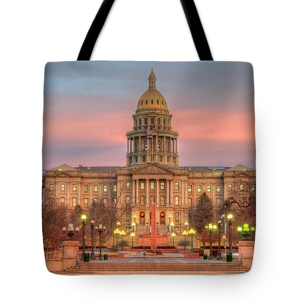 Tote Bag featuring the photograph Colorado Capital by Gary Lengyel