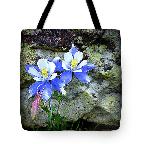 Colorado Columbines Tote Bag by Karen Shackles