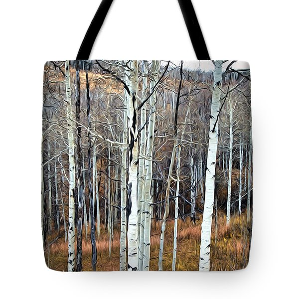 Colorado Fall Aspen Tote Bag by James Steele